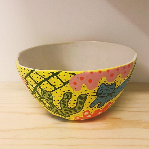 mid-sized playing animal bowl