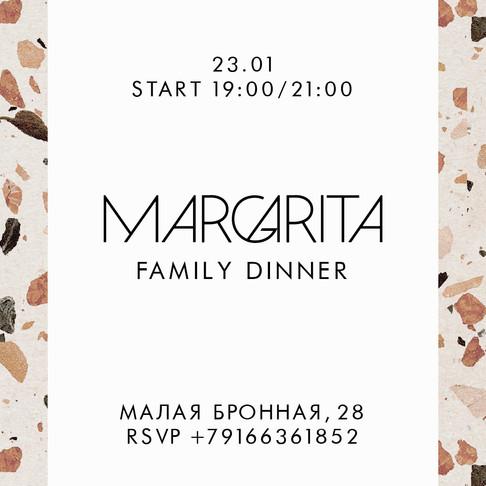 Семейный ужин в Margarita Bistro