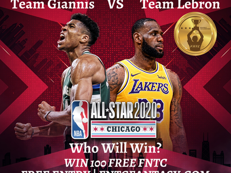 WIN 100 FREE FNTC! NBA All Star Game 2020 Contest Now Available on FNTC Fantasy. Enter Now!