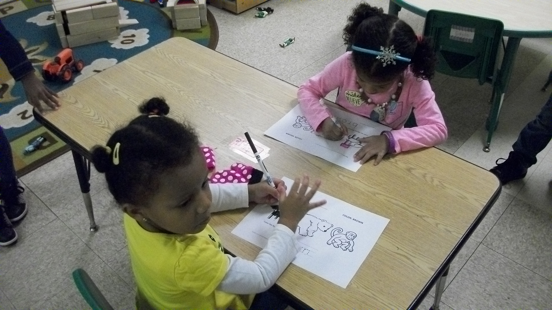 pre-k doing work