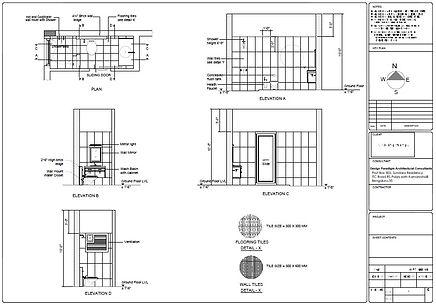 ARCHITECTURAL TOILET DETAILS