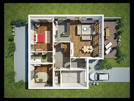 3D CONCEPT ARCHITECTURAL PLAN