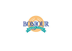 Bonjour Bagel Cafe identity
