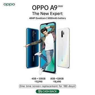 OPPO A9 2020 (Marine Green, 8GB RAM, 128GB Storage)