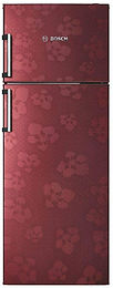 Bosch 347 L 3 Star Frost-Free Double Door Refrigerator (KDN43VV30I, Wine Red)