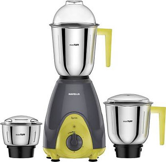 Havells Sprint 500 W Mixer Grinder  (Grey, 3 Jars)