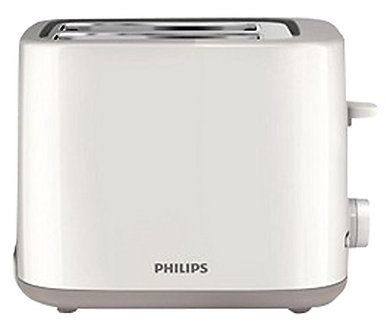Philips Daily Collection HD2595/09 800-Watt 2 Slot Toaster