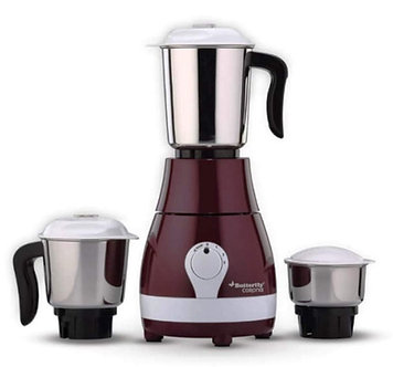 Butterfly Stainless Steel Corona Mixer Grinder (Cherry Red)