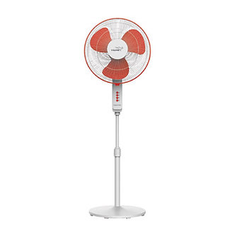 V-Guard FINESTA STS PLUS (White Red) Pedestal Fan