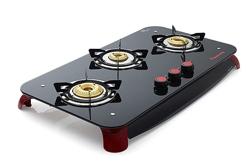 Butterfly Signature Plus 3 Burner Glass Top Stove