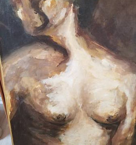 Nude Canvas Over-sized Painting/Original