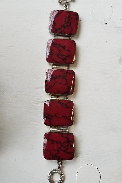 Red Sterling Bracelet