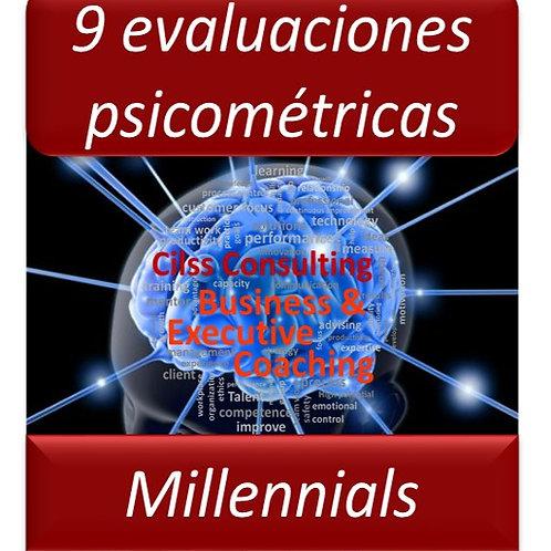 Paquete Millennials - 9 Pruebas Psicométricas