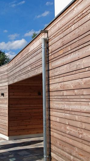 Holz Fassade quer