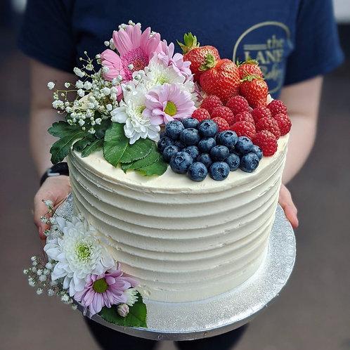 Fruit & Flower Overload Cake