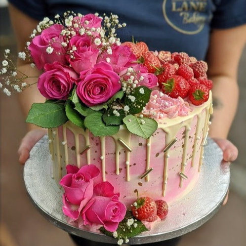 Fruit & Flower Overload Cake