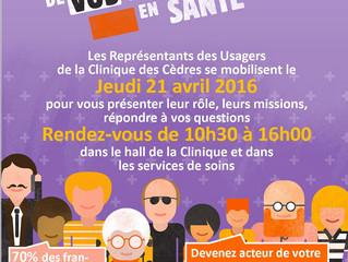 21 avril 2016 - Journée Européenne des Droits en Santé
