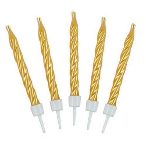 Gold Spiral Candles (10)