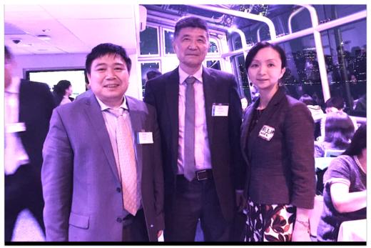 复友资本联合创始人周谷声先生,屈正哲先生与Fintech负责人周玉琳女士