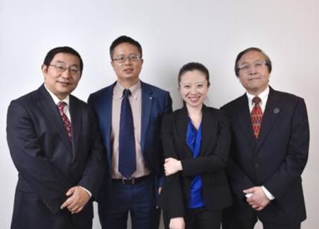美亚金协新任执行委员会成员自左至右Jack Xu, Charlie Peng , Kewa Luo, Arnold Chu