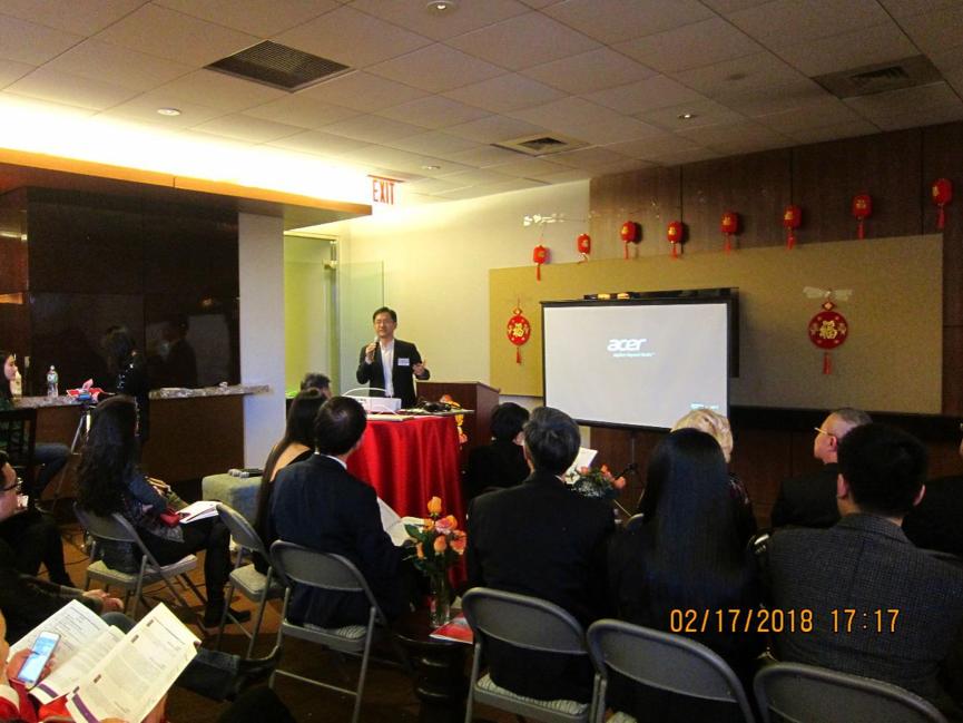 美国复旦校友企业家高管俱乐部顾问、复旦美国校友会(纽约)会长宋翔发表了重要讲话。