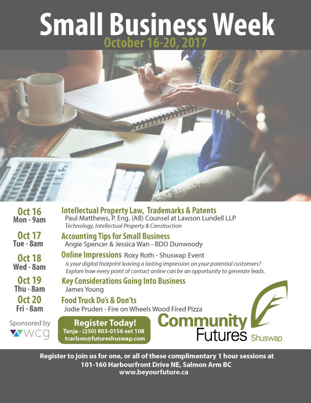 Small Business Week: Oct 16-20th