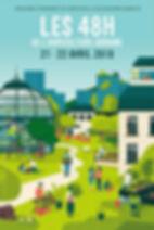 """Affiche """"les 48h de l'agriclture urbaine"""""""