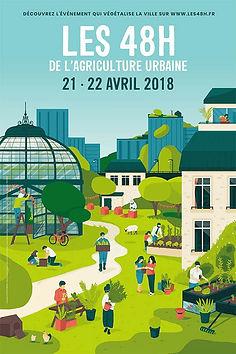 """Affiche """"Les 48h de l'agriculture urbaine"""""""