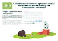 """Communiqué de presse """"Les 48h de l'agriculture urbaine"""""""