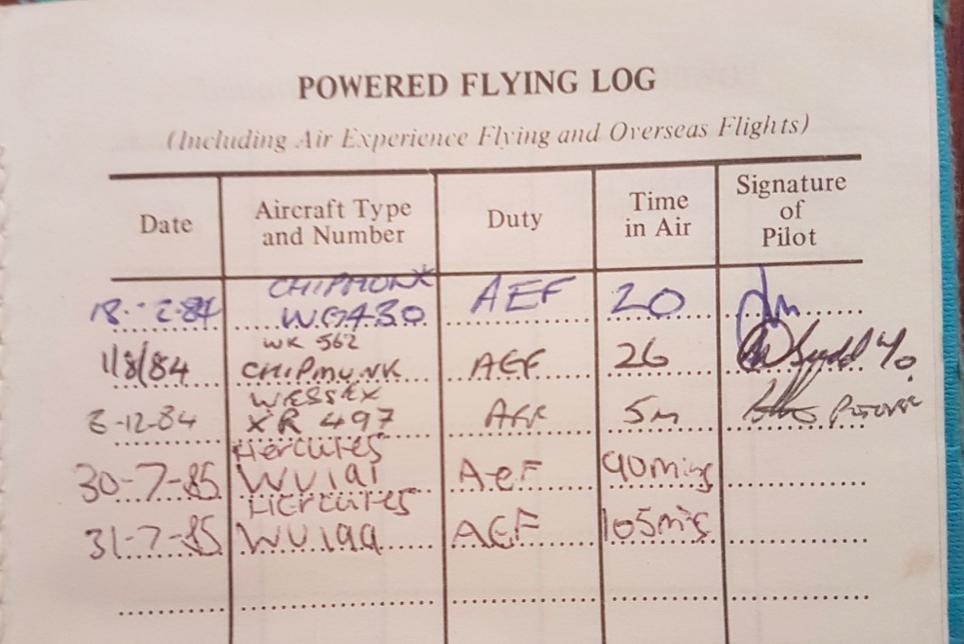 First flight from a UK pilot!