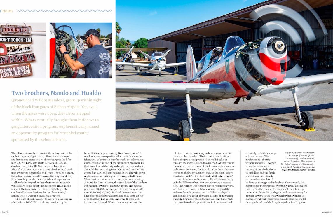 July 2020 EAA Sport Aviation magazine ar