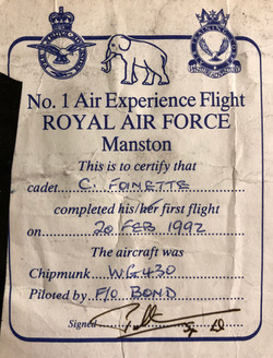 WG430 Flight Certificate 1992