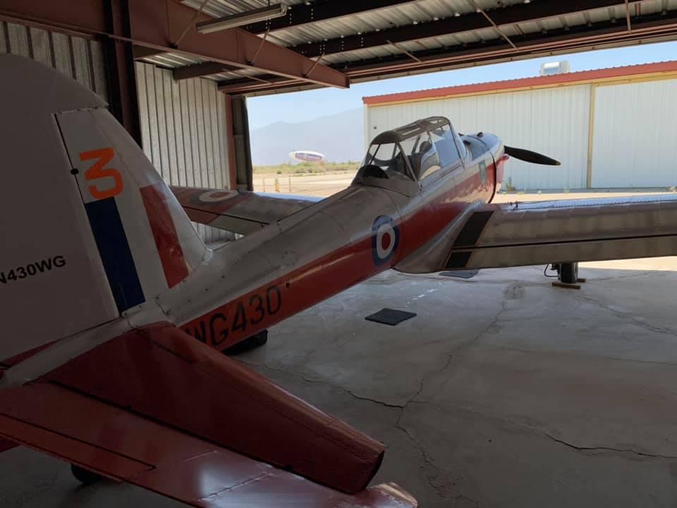 In the hangar, Thermal CA