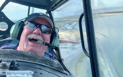 Captain Don Olsen flying WG430