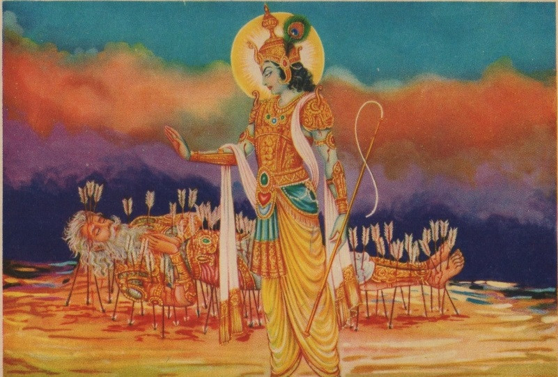 Conversation between Lord Krishna and Bhishma Pitamah