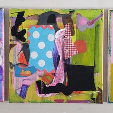 Beckii's Parade acrylics 12x36