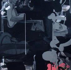 Black Ganesha acrylic 48x30
