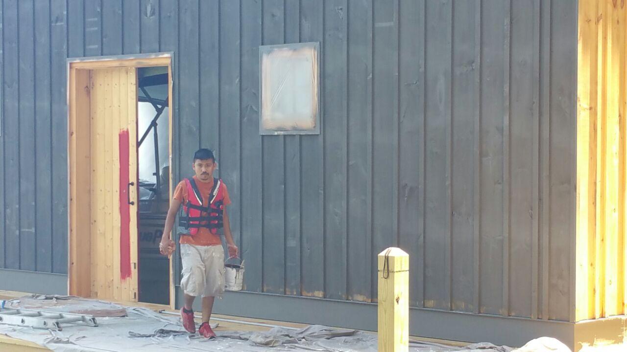 Lake House Painter: DURING