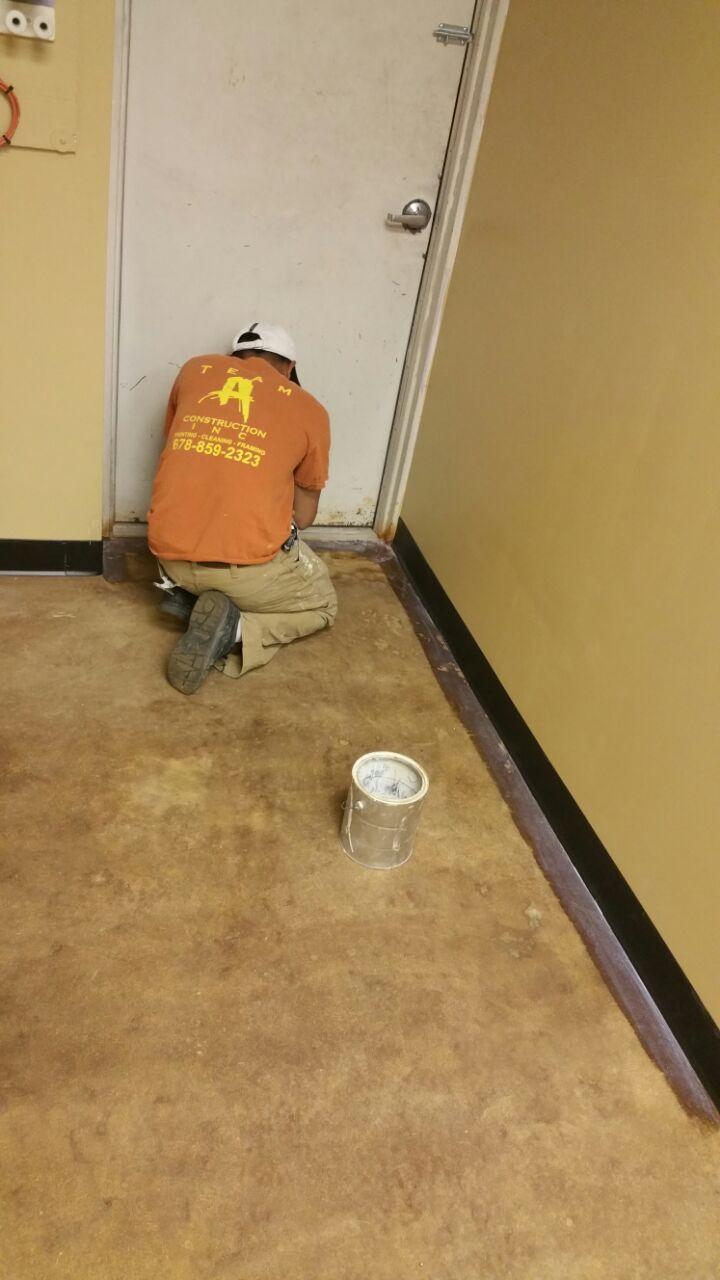 Floor Job: BEFORE