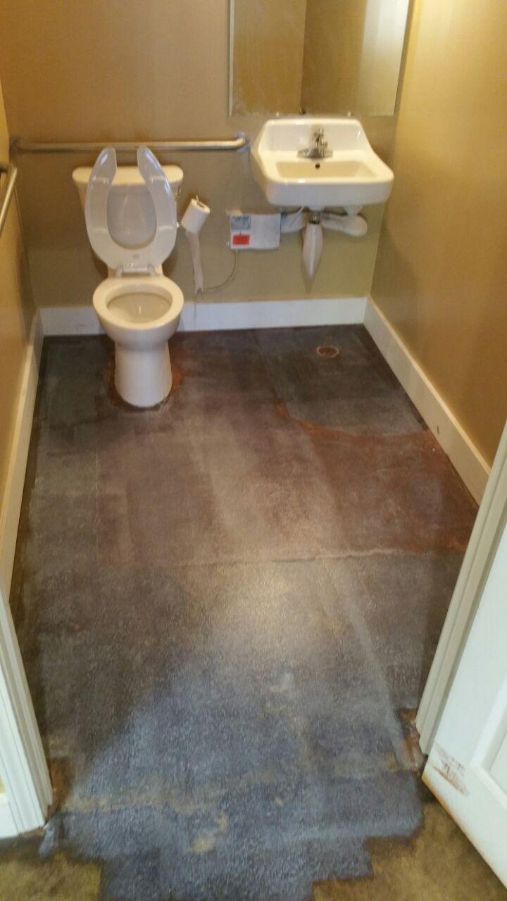 Bathroom Floor Job: DURING