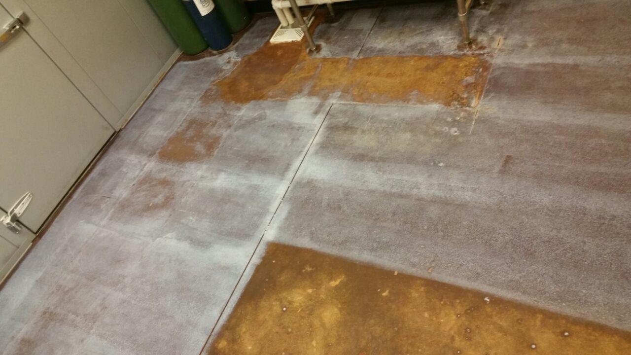 Floor Job: DURING