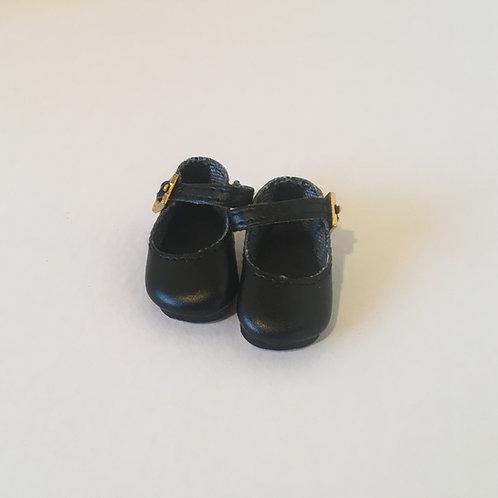 """10-11"""" Black Mary Jane Shoe"""