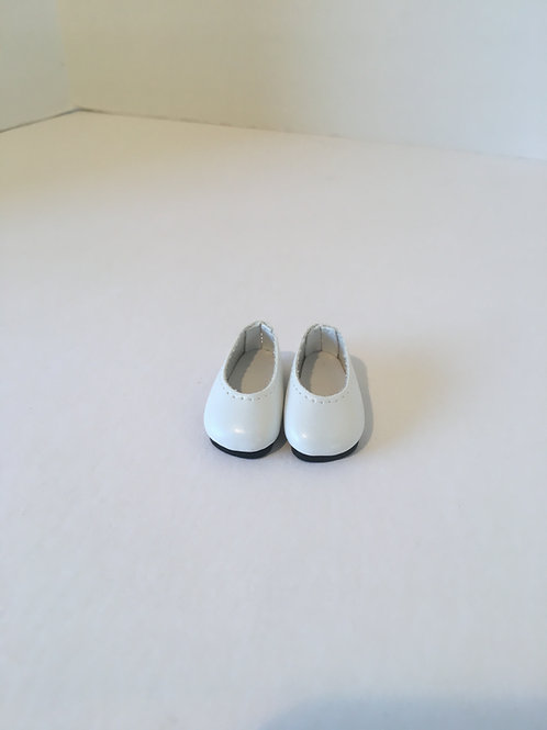 "10-11"" White Slip on Shoe"