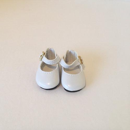 """10-11"""" White Mary Jane Shoe"""