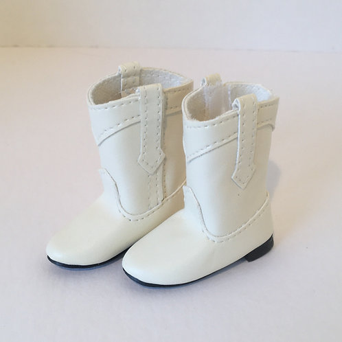 LD White Cowgirl Boots