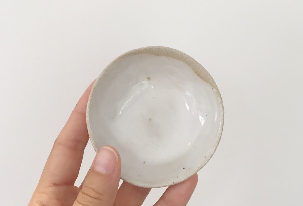small clay ceramic dish