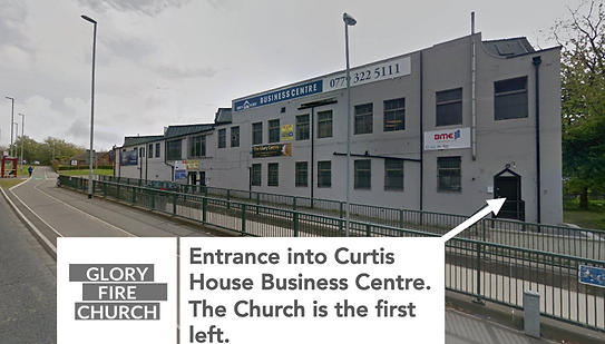 The Location and entrance of Glory Fire Churchc
