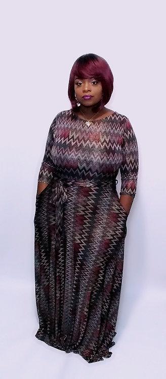 Chic & Chevron Maxi Dress