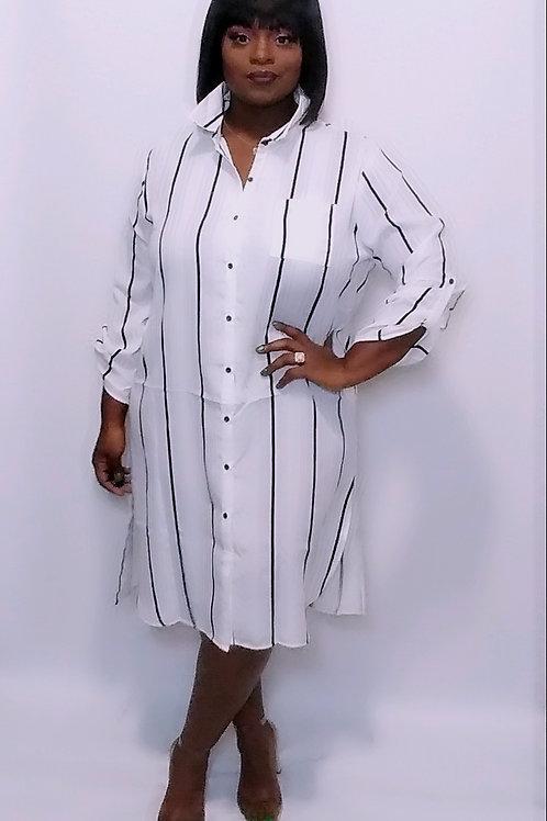 Pin Stripe shirt dress
