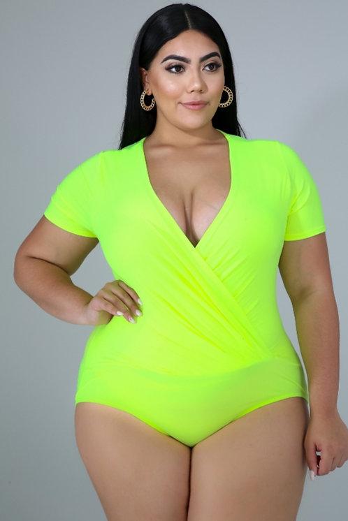Neon Bodysuit -Yellow